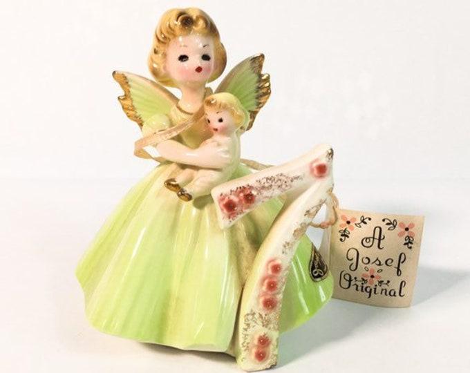 Girl Seventh Birthday 7 Vintage Josef Original Statue - Birthday Doll Series - Girl's Seven Birthday Statue - Retro Figurine