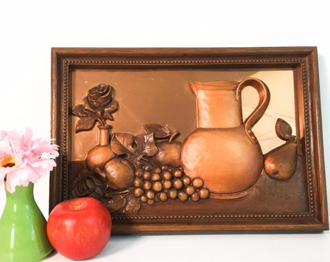 Vintage Coppercraft Guild Wall Decor w/ Embossed Still-life - Copper  Home Decor 1970s - Home Decor Mid Century