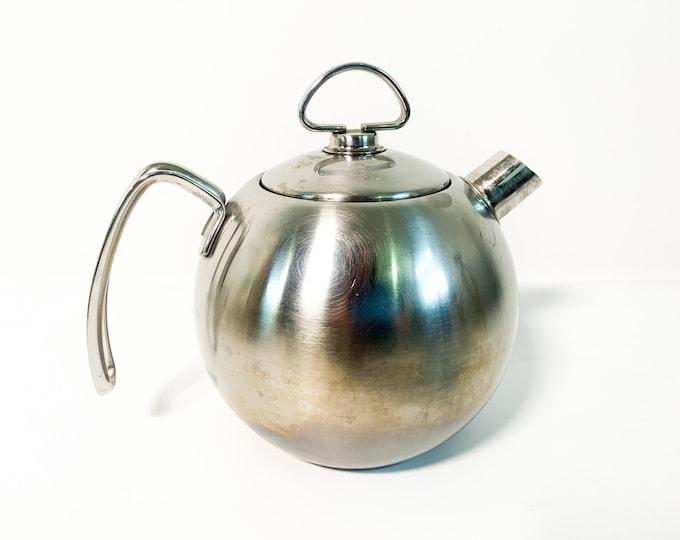 Vintage Chantal Teakettle - Chantal Stainless Steel Teapot - Vintage Tea Pot Kettle