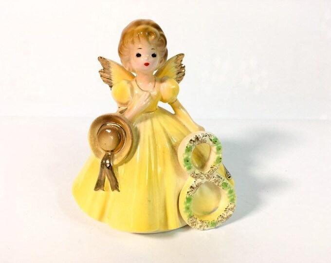 Girl Eighth Birthday 8 Vintage Josef Original Statue - Birthday Doll Series - Girl's Eight Birthday Statue - Retro Figurine Gift for Girl