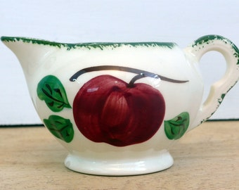 Blue Ridge Southern Potteries Apple Trio Creamer - Vintage Apple Trio Pattern Creamer