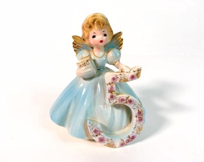 Girl Fifth Birthday 5 Vintage Josef Original Statue - Birthday Doll Series - Girl's Five Birthday Statue - Retro Figurine