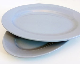 Vintage Buffalo China Platter - Blue Mid century Restaurant ware Oval Light Blue Platter circa 1959 - Buffalo China Luna