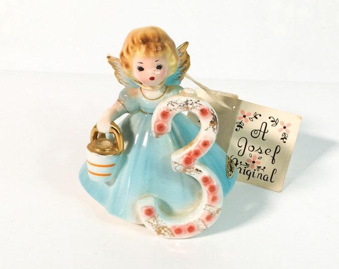 Girl Third Birthday 3 Vintage Josef Original Statue - Birthday Doll Series - Girl's Three Birthday Statue - Retro Figurine