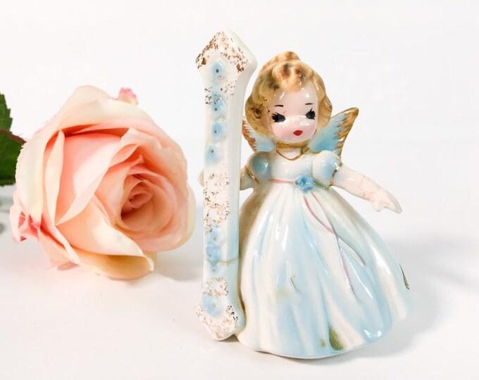 Birthday 1 - Vintage Josef Original Statue - Birthday Doll Series - Girl's First Birthday - Birthday Girl Statue - Retro Figurine