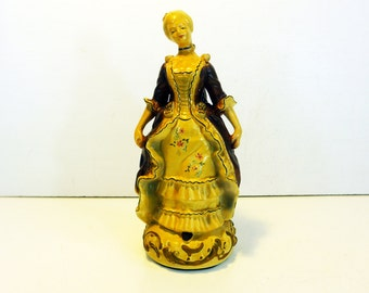 Vintage Colonial Woman Statue - Handpainted China Female Figurine - Colonial Figurines Rochester NY