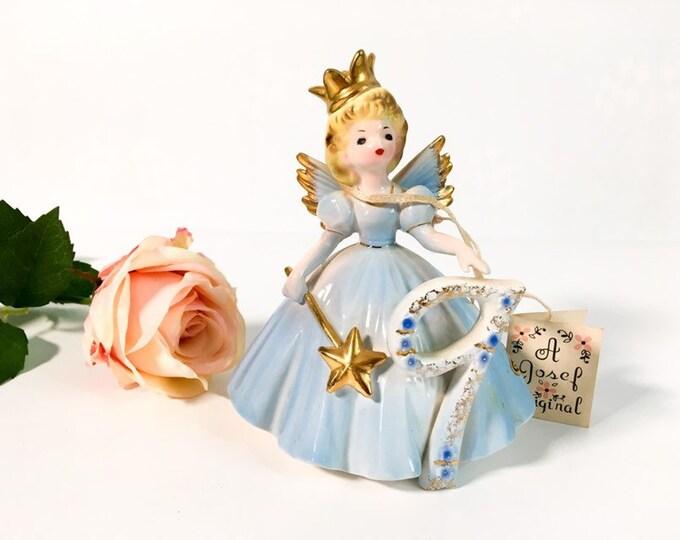 Girl Ninth Birthday 9 Vintage Josef Original Statue - Birthday Doll Series - Girl's Age Nine Birthday Statue - Retro Figurine Gift for Girl