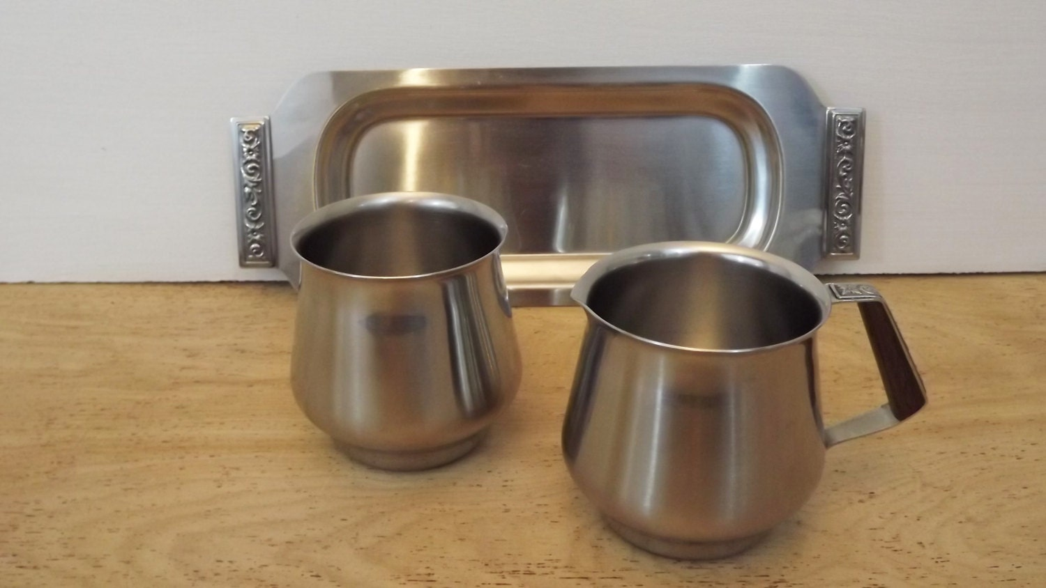 Vintage international decorator stainless coffee tea set for International home decor stores