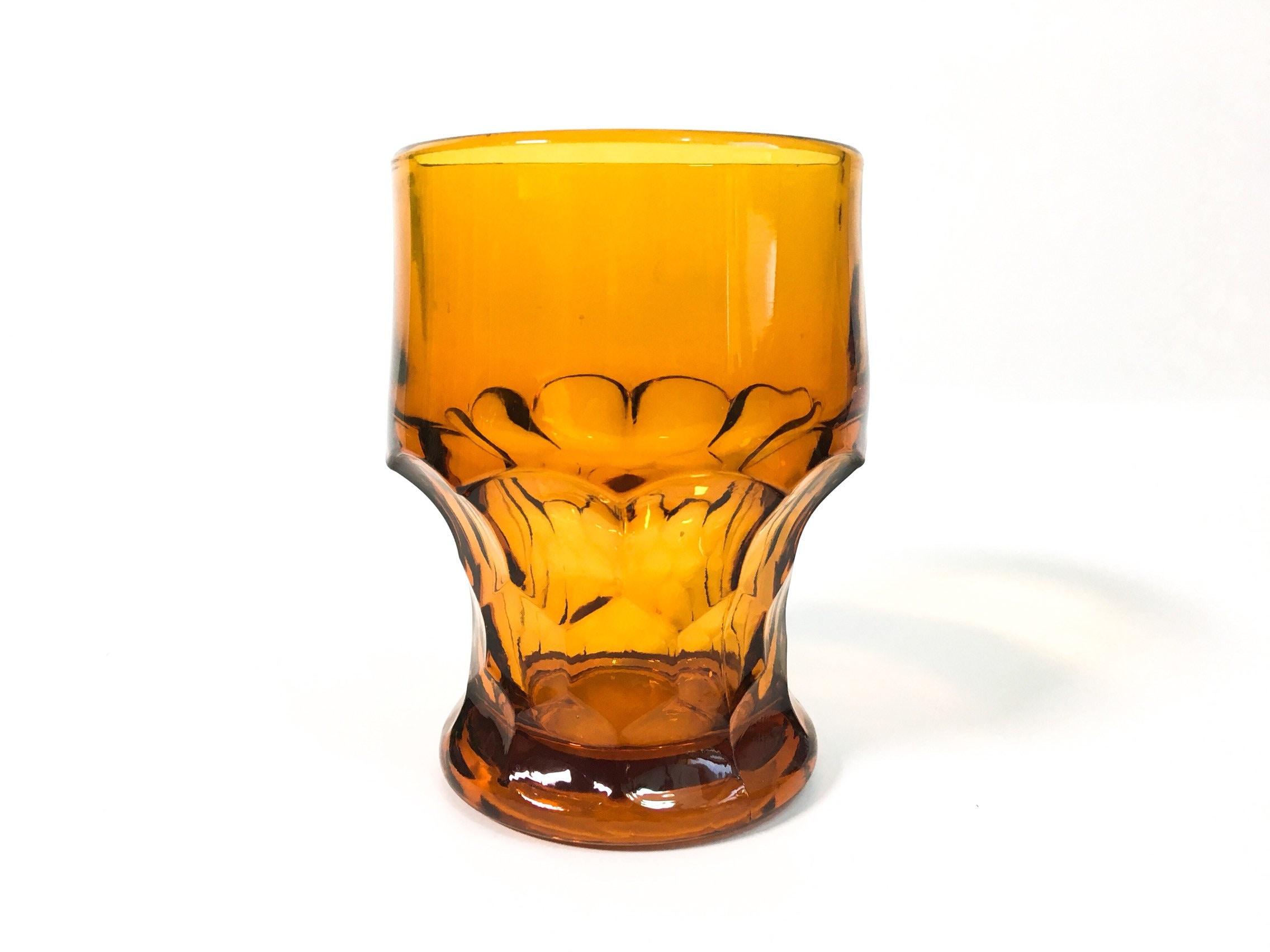 4 Tall Anchor Hocking /'Georgian Topaz Amber /' Salt Shaker