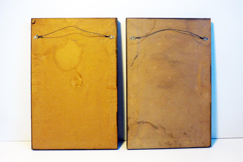 Vintage or Antique Pair Prints Framed Jewish Couple - Wood Frames ...