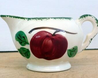 Blue Ridge Southern Potteries Apple Trio Creamer - Vintage Apple Trio Pattern Creamer