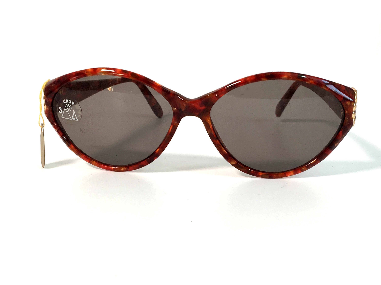 7ef34cede4 Vintage Serengeti Brown Tortoise Shell Frame Sunglasses Nina Ricci ...
