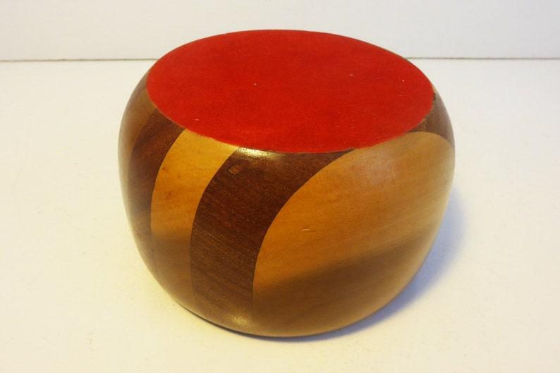 Mid century Mod Two Toned Wood Bowl Home Decor Small  Medium Sized Wood Bowl Vintage Danish Mid Century Modern Wooden Bowl