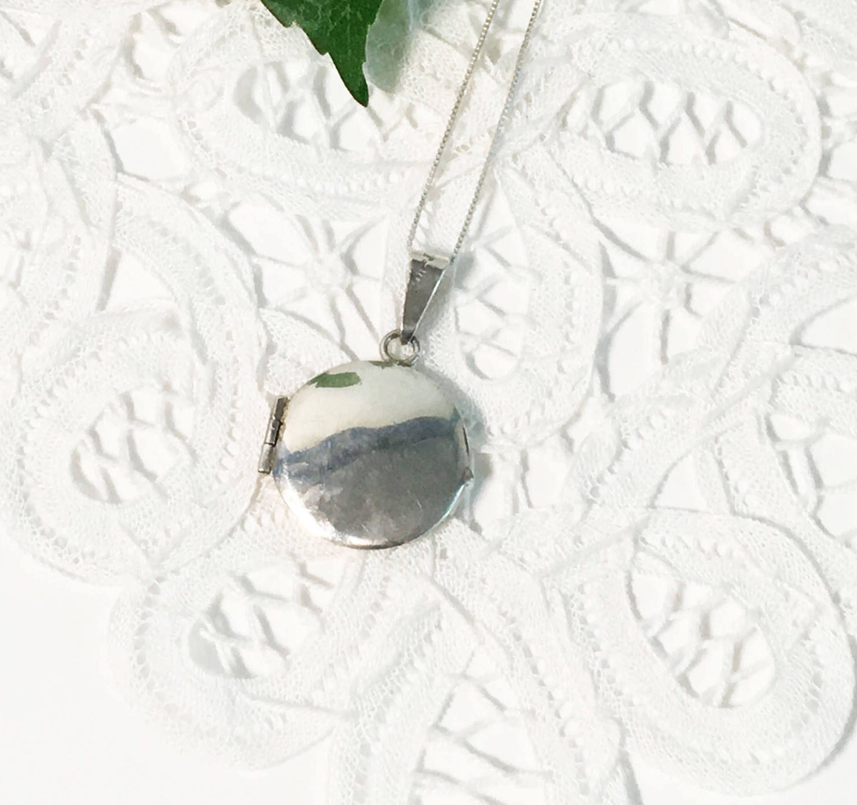 6e8526c19b4e Circle Sterling Silver Mexico Locket Necklace - Round Taxco 925 ...