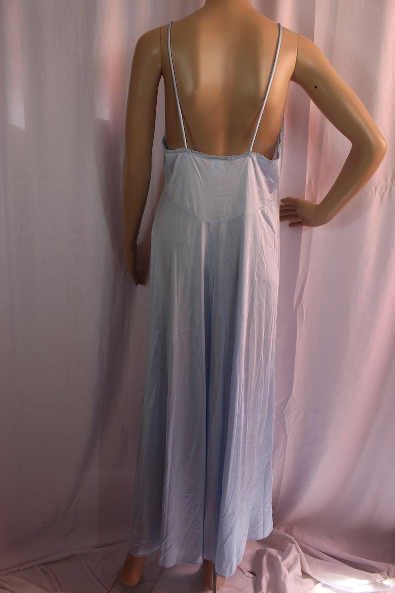 Blue Barbizon set night gown with sheer robe