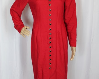 80s dawn joy red dress