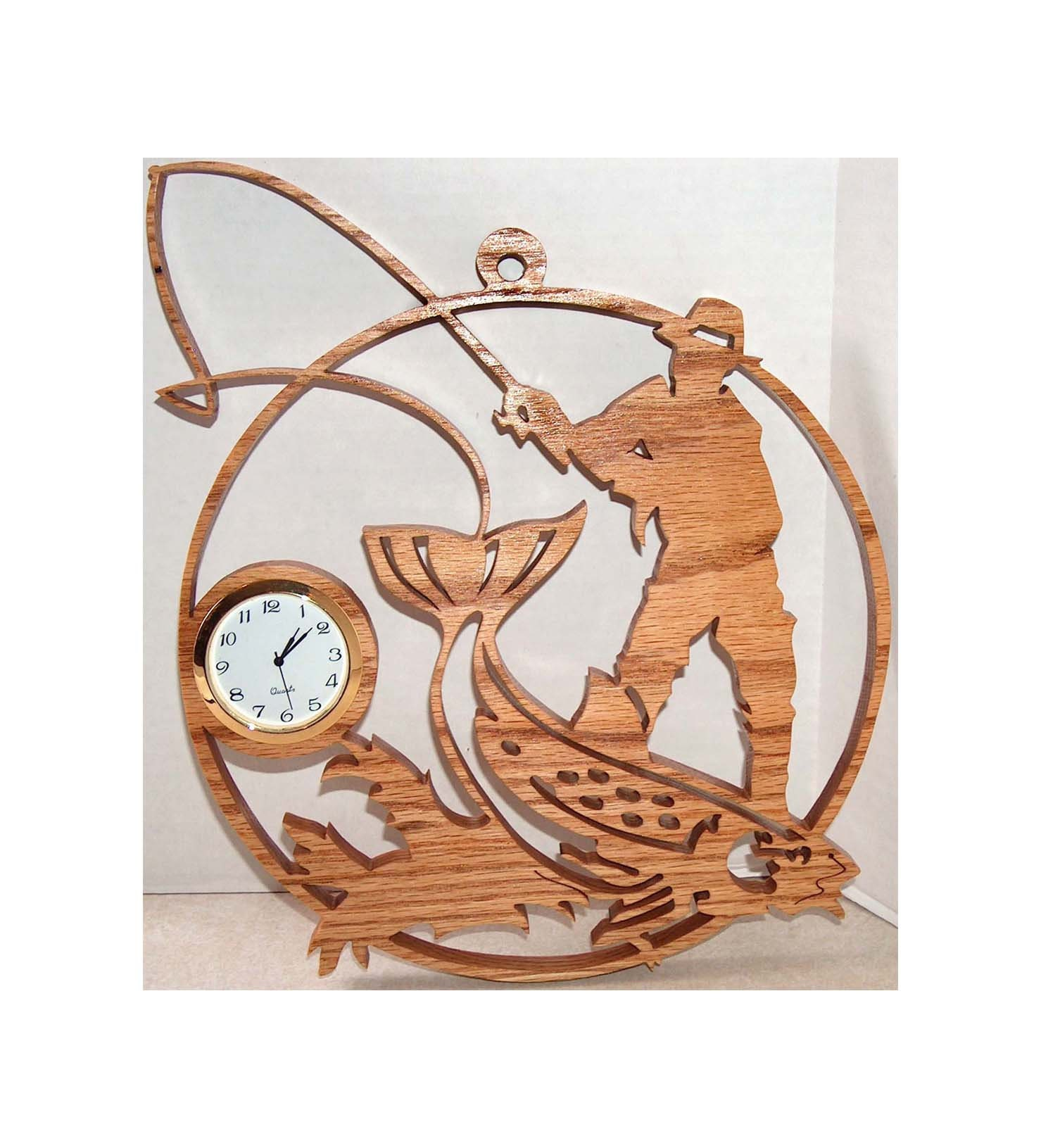 Unique Pêche Poisson Squelette de pêche-Horloge murale-Cadeau Idéal
