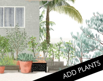 Add Plants - An addition to the Custom House Portrait