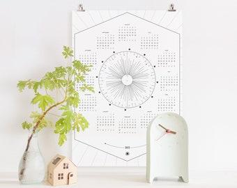 2022 Lunar and Solstice Calendar, Digital Printable Calendar (2021 version still available)