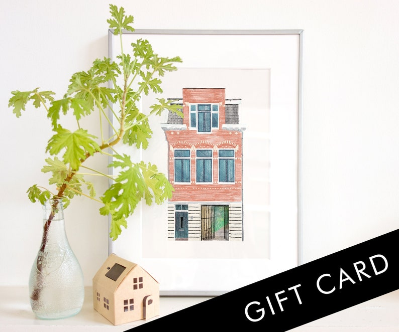 GIFT CARD Custom House Portrait