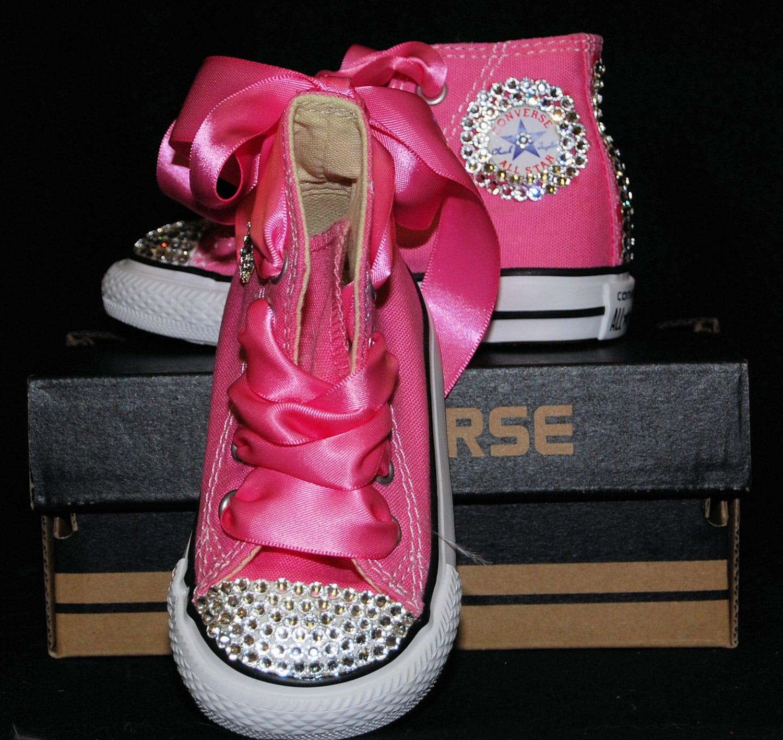 f2bae22db157 Swarovski Crystal Bling Converse High Top Princess