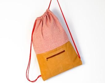 gym bag, backpack, leather bag,  cotton backpack