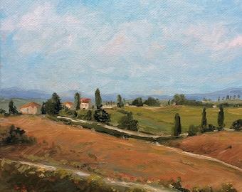 bc93e0e5d0b Chianti Tuscany Original oil painting
