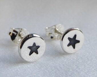 Sterling Silver Star Stud Earrings, sterling studs, sterling silver stud earrings, star earrings, star studs, star stud earrings