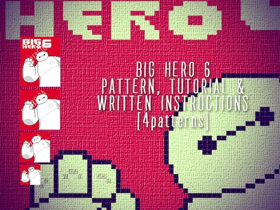 BIG HERO Corner To Corner Crochet Pattern For Blanket And Etsy Cool Hero Patterns