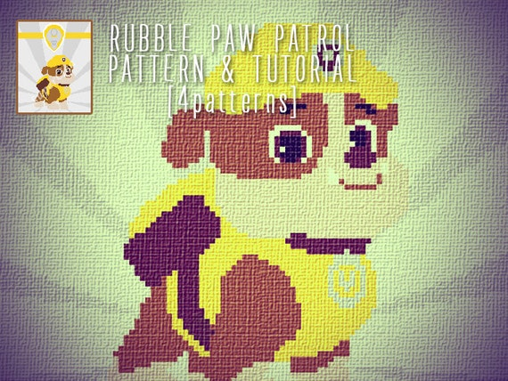 Rubble Paw Patrol Blanket Corner To Corner Crochet Pattern And Tutorial 4 Sizes Graph Patterns And Written Instructions