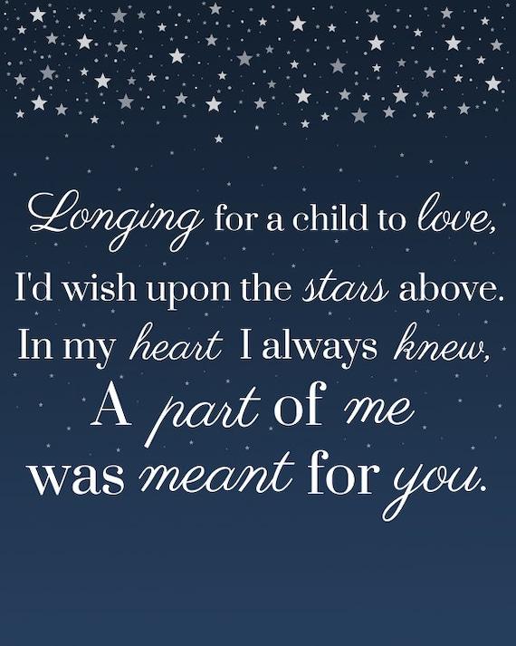 Sternenhimmel Kinderwunsch Zu Liebe Annahme Gedicht Bedruckbar 8 X 10