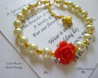 Flower Girl Bracelet, Flower Girl Gift, Pearl Flower Girl Bracelet, Pearl Childrens Bracelet, Pearl Childs Bracelet, Christmas Gift