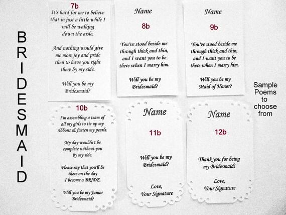 Probe Brautjungfer Trauzeugin Junior Brautjungfer Gedichte Nicht Kaufen Kostenlos Bei Bestellung Hinterlassen In Hinweis An Den Verkäufer An Der