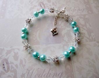 Flower Girl Gifts, Flower Girl Bracelet, Flower Girl Jewelry, Pearl Flower Girl Bracelet, Christmas Gift, Little Girl's Jewelry