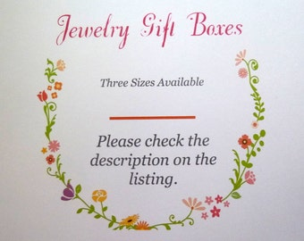 Add a Gift Box, Make Your Order Special Gift Box, Jewelry Gift Boxes, Gift Box for Your Bracelet, Necklace, Earrings, Rings
