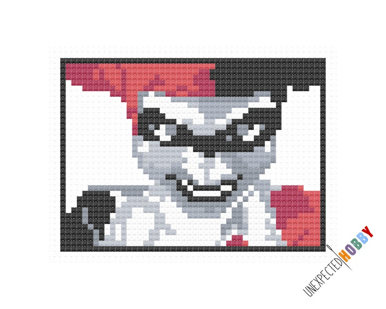 Harley Quinn  Cross-stitch Pattern INSTANT DOWNLOAD PDF image 0
