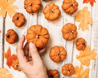Lot of 6 pumpkin sculptures Folk fairytale Halloween enchanted living fairy tale folktale autumn autumn fall cosy hygge pumpkin patch