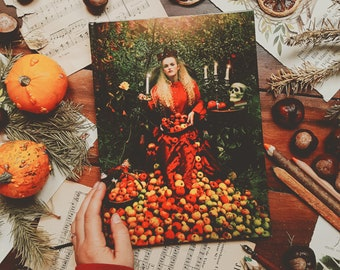 Large book pages lined color photography Olga Valeska format A4 magic fall witch Halloween fairy tale fairy wonders