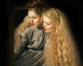 """Postcard photography art """"Her heart was a secret garden"""""""