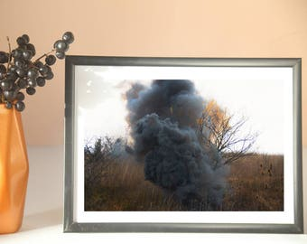smoke bomb photography, landscape photos, photos of trees, fine art photo, canvas photo prints, wall art decor, surrealism in photography