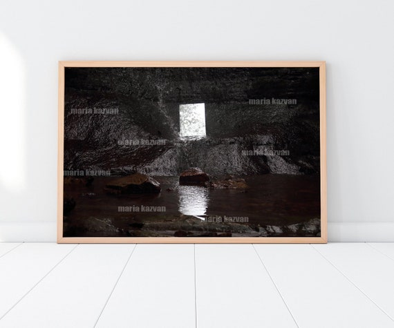 reflection photo witchy home decor, surreal art contemporary art, portal  canvas wall art, pagan decor dark art