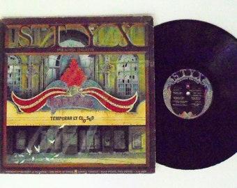 Styx Vintage LP: Paradise Theatre Vinyl Record Album (1981, A&M Records) ~ Etched ~ Prog Rock