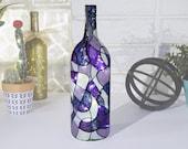 Shades of Purple LED Light up 1.5 Liter Wine Bottle