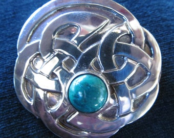 Hand fabricated Sterling Silver Celtic Knotwork Brooch