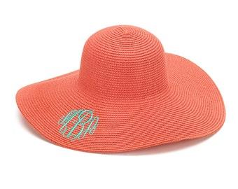 Monogram Sun Hat - Monogram Floppy Hat - Monogram Beach Hat - Beach Hat - Floppy Hat - Personalized Floppy Hat - Personalized Sun Hat