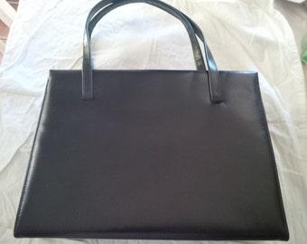 6f8afc73bf Vintage Michel - Drew Handbag Purse Black Leather 1970 s