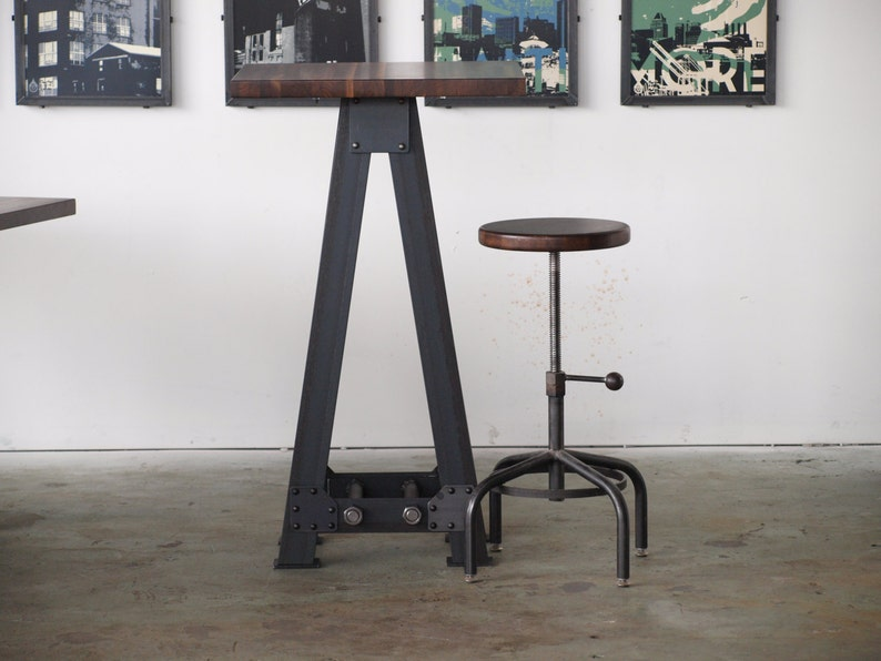 Pub kitchen A Frame table standing height industrial chic image 0