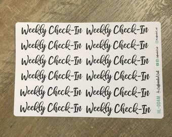 Weekly Check-In Header Stickers