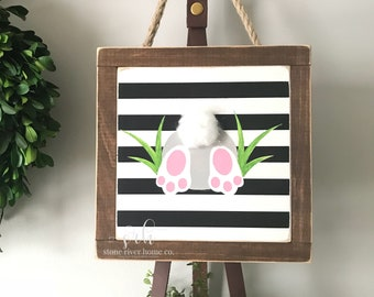 Easter Bunny mini wood sign | Wreath decor | Entry Decor | Front Door Decor | Farmhouse Decor | Fixer Upper