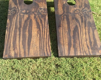 Rustic Wooden Cornhole Set - Pickup or Delivery Only Local to Austin, TX